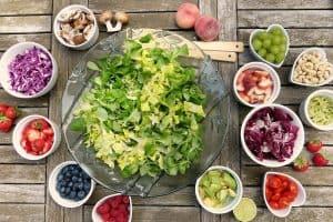Vegetarisch eten salade