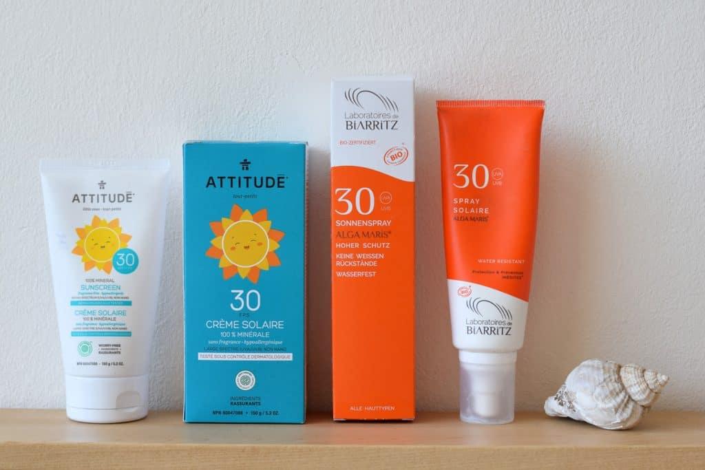 zonnebrandcrème met titanium dioxide